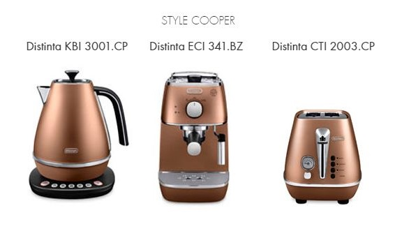 Raňajkový 3set DeLonghi Distinta COPPER + thermo controll