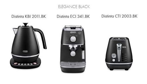 Raňajkový 3set DeLonghi Distinta BLACK + thermo controll