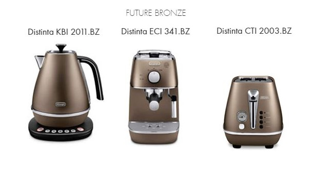 Raňajkový 3set DeLonghi Distinta BRONZE + thermo controll